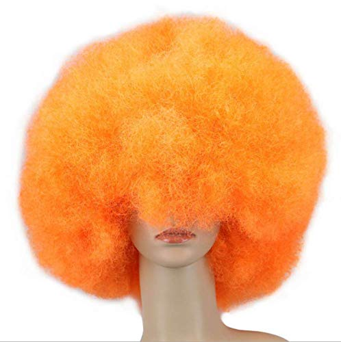 opf Modenschau Lustige Fans Halloween Maskerade Clown Dress Up Show Perücke Set - Orange ()