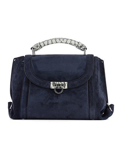Salvatore-Ferragamo-Womens-0671485-Blue-Suede-Handbag