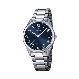 Festina Reloj de Hombre de Cuarzo con Esfera Analógica Azul Pantalla y Plata Pulsera de Acero Inoxidable F16875/2