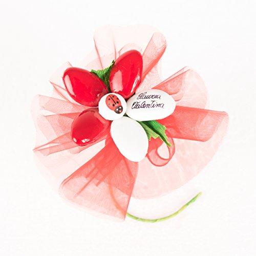 Margherita laurea con sacchetto - fiore di confetto - confetti pelino di sulmona