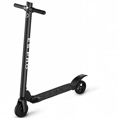 E Intelligent Scooter Électrique Mise à Niveau Double Amortisseur Scooter Adulte Pliable Mini Batterie Voiture,Noir