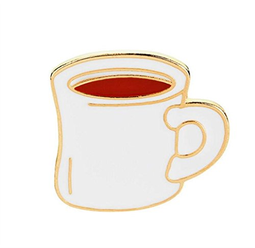TOUYOUIOPNG Emaille Pin Badge Souvenir Mode Kaffeetasse Kostüm Zubehör Brosche Button Badge ()