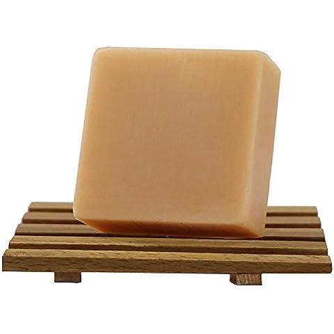 F&HY&L Aceite de almendras dulces de la fruta JABÓN JABÓN control Hidratante facial JABÓN JABÓN hecho a mano 3 * 100g