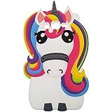 Samsung Galaxy Grand Prime G530 Funda,DUGRO Nuevo 3D de Dibujos Animados de Suave Silicona [Diseño más Grueso] Ultra Anti-Choque Teléfono Caso - Rainbow Unicornio