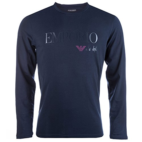 Mens Armani Mens Long Sleeve T-Shirt in Navy - S for sale  Delivered anywhere in UK