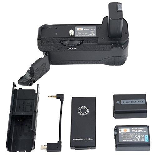 DSTE Infrarot Fernbedienung Vertikaler Batterie-Griff vg-6300Für Sony A6300A6000Digitalkamera mit 2NP-FW50Akku Digital Camera Battery Grip