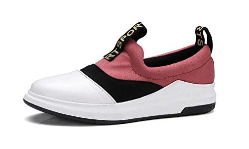 SHINIK Frauen Outdoor Sport Schuhe Kampf Farbe Fisherman Schuhe Casual Schuhe Thick Buchstaben Skateboard Schuhe Freizeit Fitness Yellow Mino Pink
