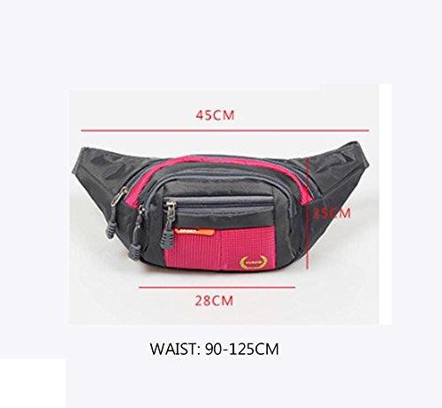 Sport-Taillen-Beutel, Männer und Frauen Multifunktionale Großraum-Mappe, Geschäfts-Taillen-Beutel, Kasse-Register-Taillen-Beutel, vier Großraum-Taschen, Art und Weise... rose red