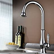SHUYOU® Traditional Chrome Finish One Hole Single Handle Deck Mounted Rotatable Kitchen Faucet
