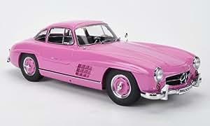 Mercedes 300 SL (W198), rose, voiture miniature, Miniature déjà montée, Premium ClassiXXs 1:12