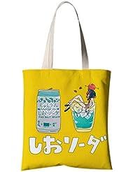 Sac à bandoulière en style japonais Sac à provisions Sac à provisions Une fille dans la coupe