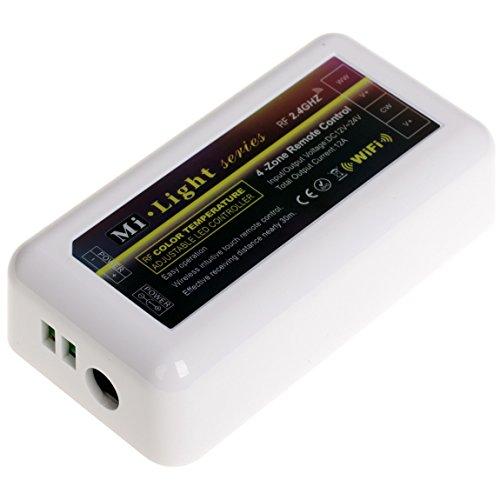 Preisvergleich Produktbild 2,4GHz RF Kabellose LED Regler Kontrolleur Dimmen 12A 12V 24V für Farbtemperaturen CCT Verstellbare LED Lampen Warmes Kaltes Weiß
