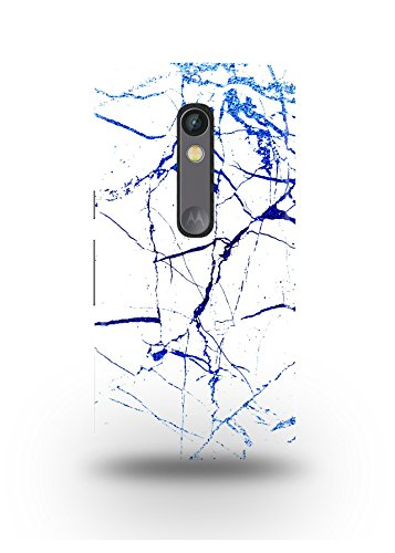 Moto X Play Cover,Moto X Play Case,Moto X Play Back Cover,White & Blue Marble Moto X Play Mobile Cover By The Shopmetro-12371