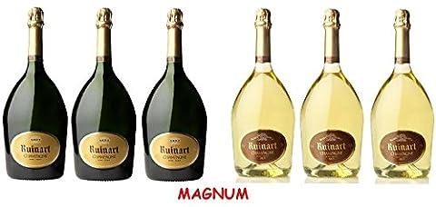Lot découverte de 6 Magnum de Champagne Ruinart Brut/Blanc de Blancs 1.5L