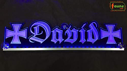 """Großes LED LKW Truckerschild Leuchtschild Namensschild Truckerschild bspw. """"David""""..."""