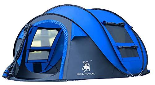 Ghlee 4 Personen Pop up Zelt für Camping Outdoor Automatische Set Instant Zelt Familie Werfen Pop up Zelt Blau
