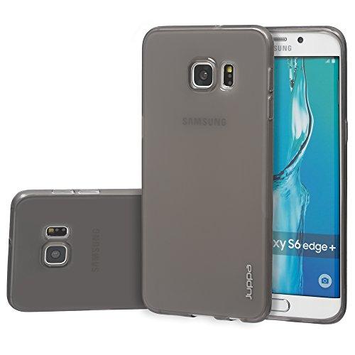 Juppa® Samsung Galaxy S6 Edge Plus 5,7 Zoll Smartphone TPU Silikon Tasche Hülle Schutzhülle mit LCD displayschutzfolie und Mikro-Reinigungstuch - Pink Schwarz