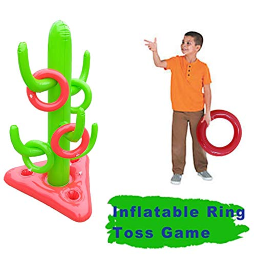 TianranRT★ Kind Aufblasbare Spielzeug Kaktus Ring Schießen Spiel Für 43In Favor, Pool-Green Fun Float Fun Party - Display Kunststoff-utensil