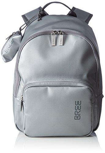 BREE Punch 704, chrome, backpack S 83570704 Damen Rucksackhandtaschen 35x30x14 cm (B x H x T), Silber (chrome 570)