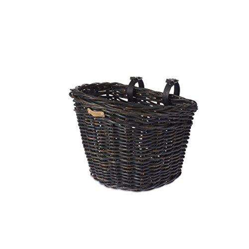 Basil Unisex- Erwachsene Darcy L Fahhradkorb, Black, 41 cm x 35 cm x 34 cm