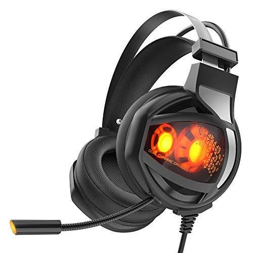 Auriculares Gaming, GAKOV GAHG11 7.1 Sonido Envolvente Con Sonido Estéreo, Orejeras Suaves...