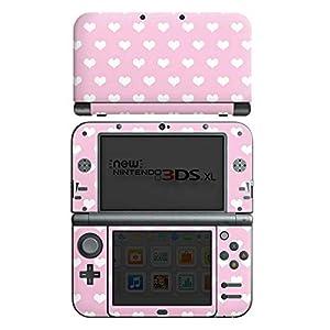 DeinDesign Skin kompatibel mit Nintendo New 3DS XL Aufkleber Sticker Folie Polka Herz Rosa Rose
