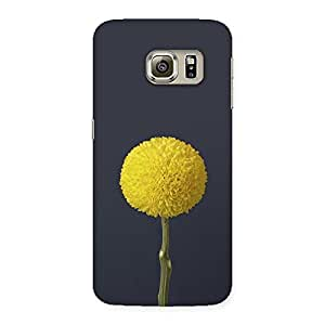 NEO WORLD Gol Flower Back Case Cover for Samsung Galaxy S6 Edge