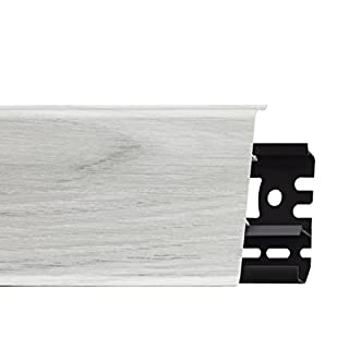 Eco Friendly, Flexible PVC SKIRTING Boards Indo 70x26mm 2.5m Various Colours (skirting Board 2.5m, 19 - Ontario Oak)