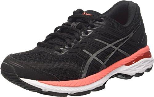 Asics Women's GT-2000 5 Running Shoes, Multicolour (Black/Carbon/Flash Coral), 4.5 UK 37.5...