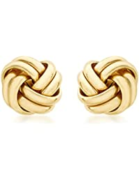 Carissima Gold Damen-Ohrstecker 18ct 10mm Knot Stud Earrings 750 Gelbgold - 7.55.6229