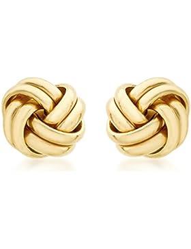 Carissima Gold Damen-Ohrstecker 18ct 10mm Knot Stud Earrings 750 Gelbgold - 7.55.6229
