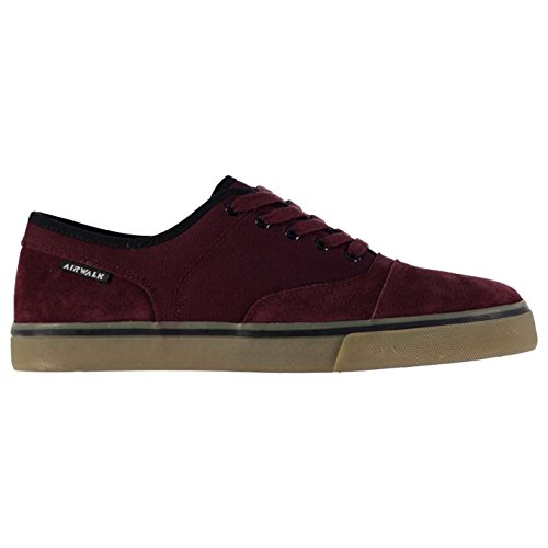 airwalk-tempo-canvas-skate-zapatos-para-hombre-burgundy-trainers-zapatillas-calzado-granate-uk7-eu41