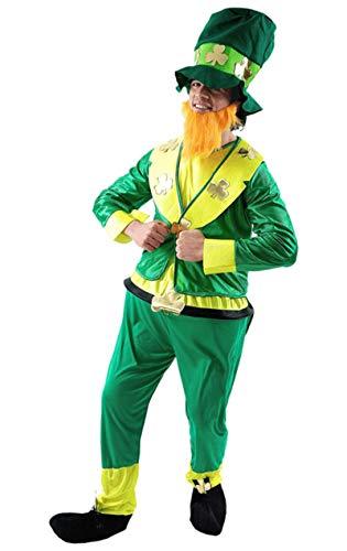 St Patrick's Leprechaun Kostüm Karneval Fasching Mottoparty Verkleidung Herren