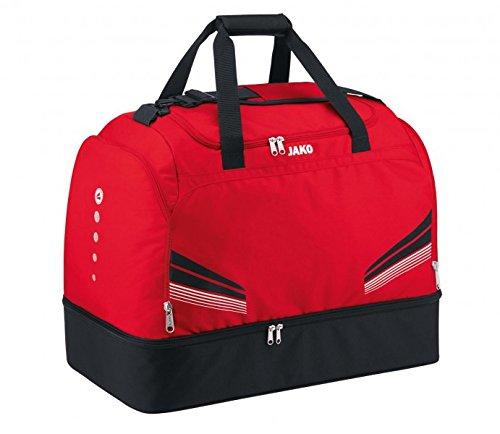 JAKO Sporttasche Pro - mit Schuhfach rot/schwarz/weiß