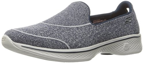 Skechers Gowalk 4-Super Sock 4, Zapatillas para Mujer, Azul (Nvy), 41 EU