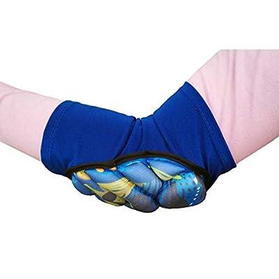 Xiton 1 Stück für Kinder weiche atmungsaktive Sportellbogenpolster Lichtkissen Ellbogenschoner, geeignet für 6 bis 10 Jahre alt blau