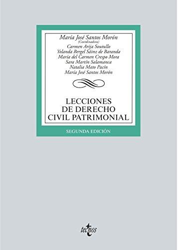 Lecciones de derecho civil patrimonial por María José Santos Morón