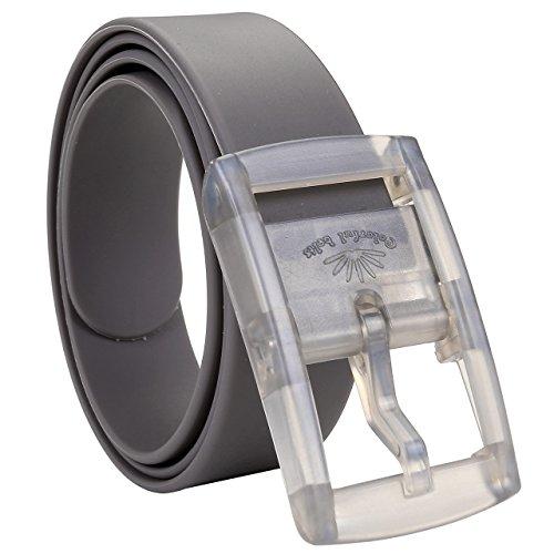 amen Parfüm Gürtel Silikon Neon Gürtel Anti Allergie Gürtel kürzbar Belts Candy Colour 115-120cm + Original Geschenkbox (Grau) ()
