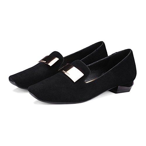Printemps des talons carrés bas mode coréenne/Lady chaussures confortables A