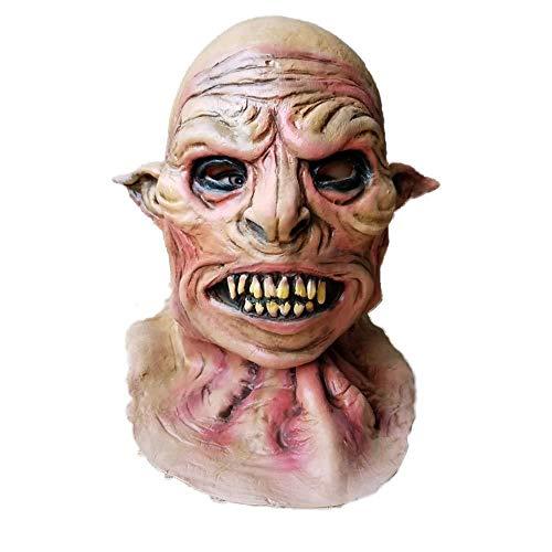 Classic Ghost Kostüm - Halloween Horror Maske Cosplay, Vollgesichts-Zombie-Maske, Biochemische Maske Dämon Kostüm Horrorzähne Tier Beast Ghost Halloween Requisiten