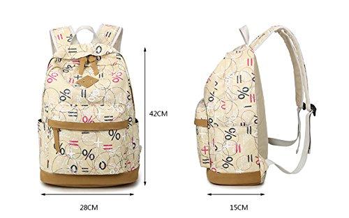 Minetom Graffiti Interessante Tela Borsa A Zainetto Donna Spalla Zaini Femminili Scuola Superiore Zainetti Bag Ragazze Zaino Blu
