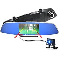 "Anstar Car DVR Dash Cam Dual Car-detector Rearview Mirror 5.0"" IPS Touch Screen FHD 1080P Parking Video Recorder Dual Camera H802 or Can As the Christmas Gift(Add 32G TF Card)"