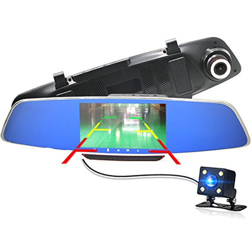 Anstar Car DVR Dash Cam Dual Car-detector Rearview Mirror 5.0