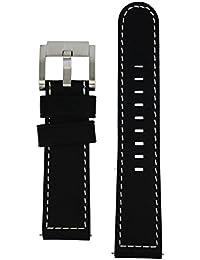TW Steel Marc Coblen Armband Uhrenband Uhrenarmband Leder 22 MM Schwarz LB_BK_S