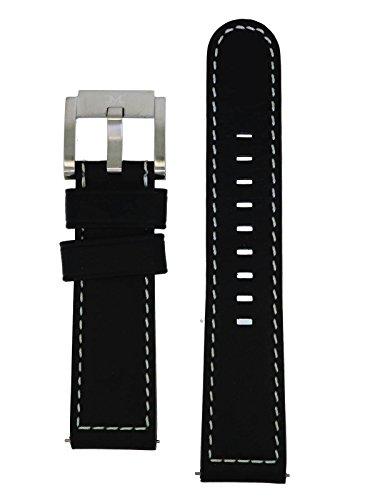 TW Steel Marc Coblen Armband Uhrenband Leder 22 MM schwarz LB_BK_S