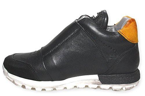 LAVATO Sneaker high Momino ungefüttert Klett Schwarz