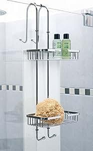valet de douche nero avec 2 rangements en inox poli cuisine maison. Black Bedroom Furniture Sets. Home Design Ideas