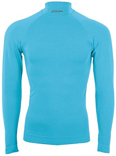 Joma Brama Classic - Camiseta térmica de manga larga para niños de 8-10 años, color azul turquesa flúor