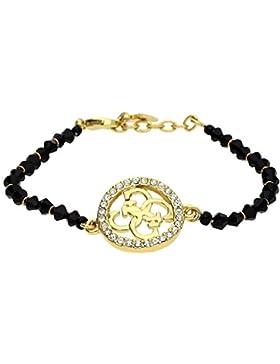 Guess Damen Armband Metall Schwarz/Gold UBB81167