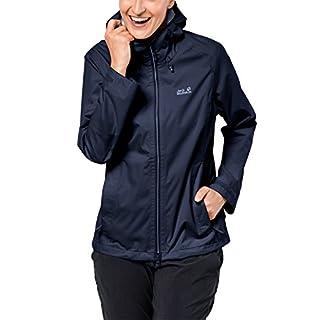 Jack Wolfskin Arroyo Hardshelljacke Damen, Wetterschutz Funktionsjacke für Damen, wasserdichte, winddichte & atmungsaktive Regenjacke, Outdoorjacke mit angenehmer Passform, dunkelblau